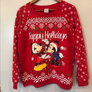 Disney Mickey Minnie Mouse Ugly Christmas Sweater